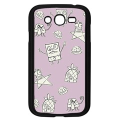 Doodle Bob Pattern Samsung Galaxy Grand Duos I9082 Case (black)