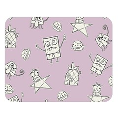 Doodle Bob Pattern Double Sided Flano Blanket (large)