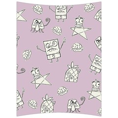Doodle Bob Pattern Back Support Cushion