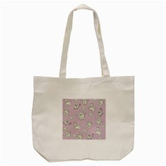 Doodle Bob Pattern Tote Bag (cream) by Valentinaart