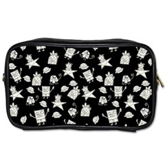Doodle Bob Pattern Toiletries Bag (two Sides)