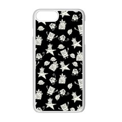 Doodle Bob Pattern Apple Iphone 7 Plus Seamless Case (white)