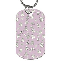 Doodle Bob Pattern Dog Tag (two Sides)