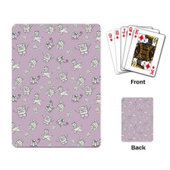 Doodle Bob Pattern Playing Cards Single Design