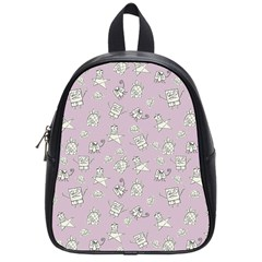 Doodle Bob Pattern School Bag (small) by Valentinaart