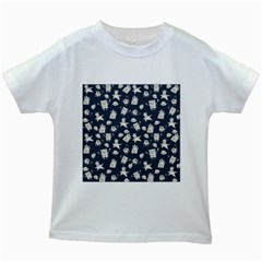 Doodle Bob Pattern Kids White T Shirts