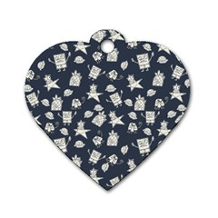 Doodle Bob Pattern Dog Tag Heart (one Side)
