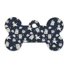 Doodle Bob Pattern Dog Tag Bone (one Side)