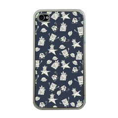Doodle Bob Pattern Apple Iphone 4 Case (clear)
