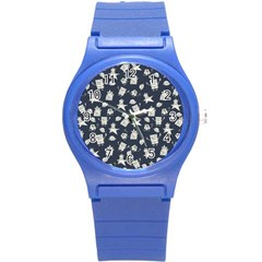 Doodle Bob Pattern Round Plastic Sport Watch (s)