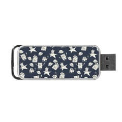 Doodle Bob Pattern Portable Usb Flash (two Sides)