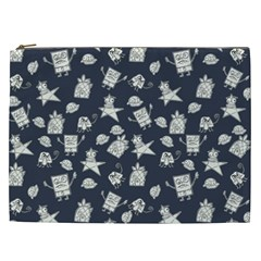 Doodle Bob Pattern Cosmetic Bag (xxl)