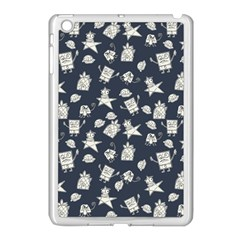 Doodle Bob Pattern Apple Ipad Mini Case (white)