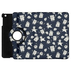 Doodle Bob Pattern Apple Ipad Mini Flip 360 Case