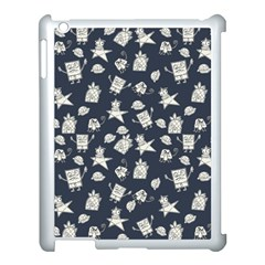Doodle Bob Pattern Apple Ipad 3/4 Case (white)