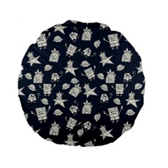 Doodle Bob Pattern Standard 15  Premium Round Cushions