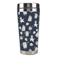 Doodle Bob Pattern Stainless Steel Travel Tumblers