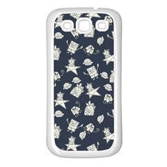 Doodle Bob Pattern Samsung Galaxy S3 Back Case (white)