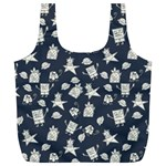 Doodle Bob Pattern Full Print Recycle Bag (XL) Back