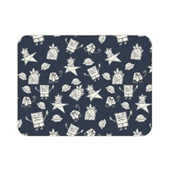 Doodle Bob Pattern Double Sided Flano Blanket (mini)