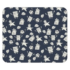 Doodle Bob Pattern Double Sided Flano Blanket (small)