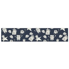 Doodle Bob Pattern Small Flano Scarf