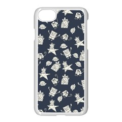Doodle Bob Pattern Apple Iphone 7 Seamless Case (white)