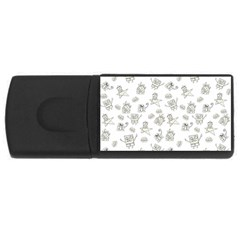 Doodle Bob Pattern Rectangular Usb Flash Drive