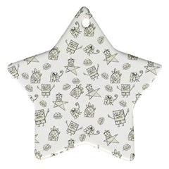 Doodle Bob Pattern Star Ornament (two Sides)