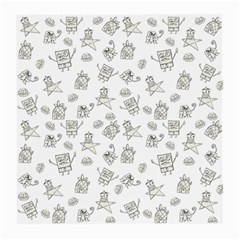 Doodle Bob Pattern Medium Glasses Cloth