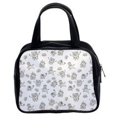 Doodle Bob Pattern Classic Handbag (two Sides)