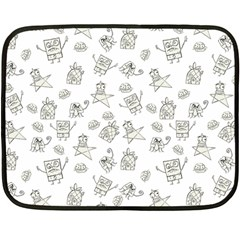 Doodle Bob Pattern Fleece Blanket (mini)