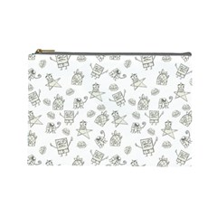 Doodle Bob Pattern Cosmetic Bag (large)