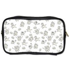 Doodle Bob Pattern Toiletries Bag (one Side)