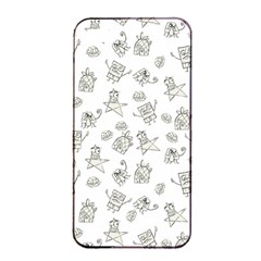 Doodle Bob Pattern Apple Iphone 4/4s Seamless Case (black)