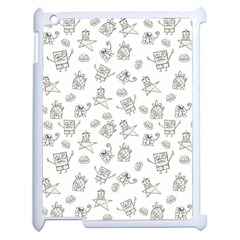 Doodle Bob Pattern Apple Ipad 2 Case (white)