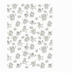 Doodle Bob Pattern Large Garden Flag (two Sides)