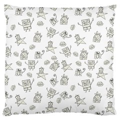 Doodle Bob Pattern Large Cushion Case (two Sides)