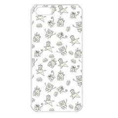 Doodle Bob Pattern Apple Iphone 5 Seamless Case (white)