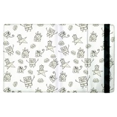 Doodle Bob Pattern Apple Ipad 3/4 Flip Case