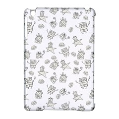 Doodle Bob Pattern Apple Ipad Mini Hardshell Case (compatible With Smart Cover)