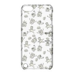 Doodle Bob Pattern Apple Ipod Touch 5 Hardshell Case With Stand