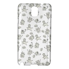 Doodle Bob Pattern Samsung Galaxy Note 3 N9005 Hardshell Case