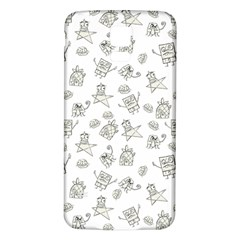 Doodle Bob Pattern Samsung Galaxy S5 Back Case (white)