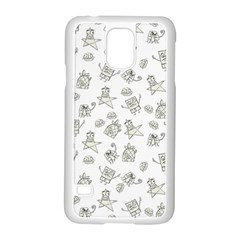Doodle Bob Pattern Samsung Galaxy S5 Case (white)
