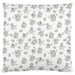 Doodle Bob Pattern Standard Flano Cushion Case (one Side)