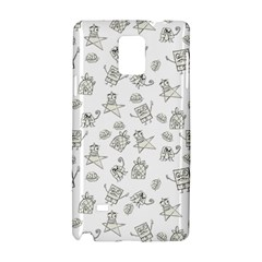 Doodle Bob Pattern Samsung Galaxy Note 4 Hardshell Case