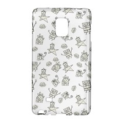 Doodle Bob Pattern Samsung Galaxy Note Edge Hardshell Case