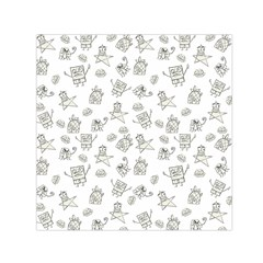 Doodle Bob Pattern Small Satin Scarf (square)