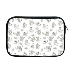 Doodle Bob Pattern Apple Macbook Pro 17  Zipper Case